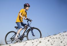 Mountain bike.Sport and healthy life.Extreme sports.Mountain bic Royalty Free Stock Photos