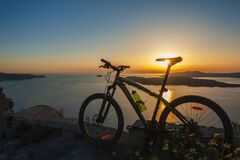 Mountain bike in the sunset