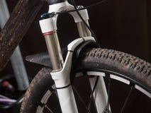 Mountain bike suspension detail Royalty Free Stock Image