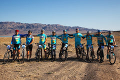 Mountain bike Team Royalty Free Stock Image