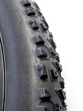 Mountain bike tire Stock Photo