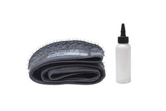 Mountain bike tire stock images