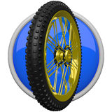 Mountain Bike Tire Icon Royalty Free Stock Photo