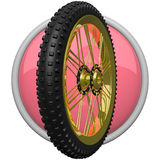 Mountain Bike Tire Icon Royalty Free Stock Images