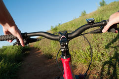 Mountain bike trail Royalty Free Stock Images