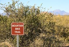 Mountain Bike Trail Sign Royalty Free Stock Image