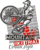 Mountain bike trial - vector design Royalty Free Stock Images