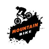 Mountain bike trials emblem. Royalty Free Stock Photo