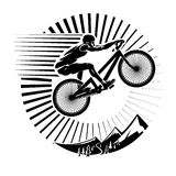 Mountain bike trials. Royalty Free Stock Photography
