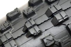 Mountain Bike Tyre Threads. Brand new mountain bike tyre threads Stock Photos