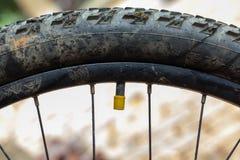 Mountain bike valve Royalty Free Stock Images