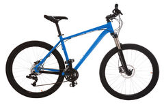 Mountain bike verde isolato su fondo bianco Fotografia Stock