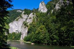 Mountain bike view in Polish Pieniny Stock Photo