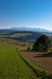 Mountain bike view in Polish Pieniny Royalty Free Stock Images