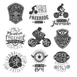 Mountain Bike Vintage Stamp Collection Royalty Free Stock Photography