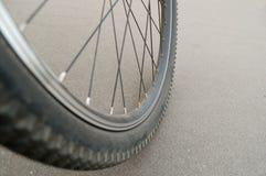 Mountain bike wheel Stock Image