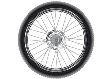 Mountain bike wheel Stock Photography