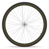Mountain bike wheel Royalty Free Stock Photography