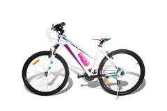 Mountain bike on white background. With clipping path Royalty Free Stock Images