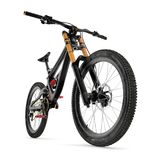 Mountain bike  on white. 3D illustration. Mountain bike  on white background. 3D illustration Royalty Free Stock Photos