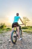 Mountain bike woman Royalty Free Stock Photos