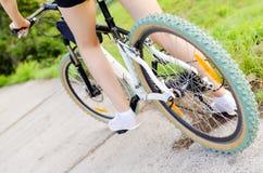 Mountain bike woman Royalty Free Stock Image