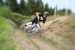Mountain bike zoom 12 Royalty Free Stock Photo