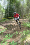 Mountain bike zoom Royalty Free Stock Photography