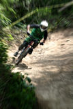 Mountain bike zoom Royalty Free Stock Images
