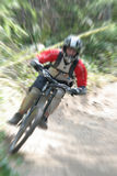 Mountain bike zoom Royalty Free Stock Image