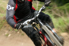 Mountain bike zoom stock images