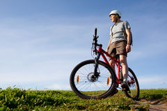Mountain biker. Royalty Free Stock Photography
