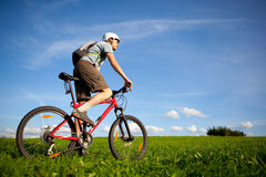 Mountain biker. Royalty Free Stock Image