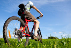 Mountain biker. Royalty Free Stock Photos