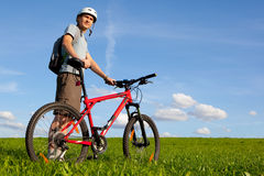 Mountain biker. Stock Images