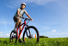 Mountain biker. Stock Photos