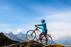 Mountain biker Royalty Free Stock Photo