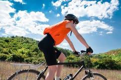 Mountain biker Royalty Free Stock Photography