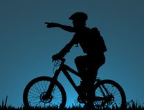 Mountain biker stock photos