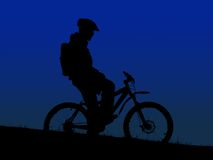 Mountain biker Royalty Free Stock Images