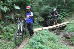 Mountain biker Royalty Free Stock Photo