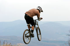 Mountain biker 2. Stock Photography