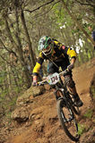 Mountain biker Chinucci Pietro - Enduro racer Stock Photo