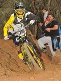 Mountain biker Dieffenthaler Paulin - Enduro racer Stock Photo