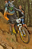 Mountain biker Dikerhoff Maxi - Enduro racer Stock Photo