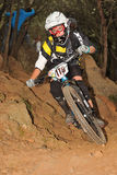 Mountain biker Emmett Kelli - Enduro racer Stock Photo