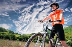Mountain biker Royalty Free Stock Photos