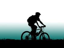 Mountain biker girl stock image