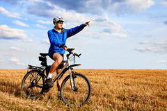 Mountain biker have fun Royalty Free Stock Images