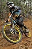 Mountain biker Joe Barnes - Enduro racer Stock Photo